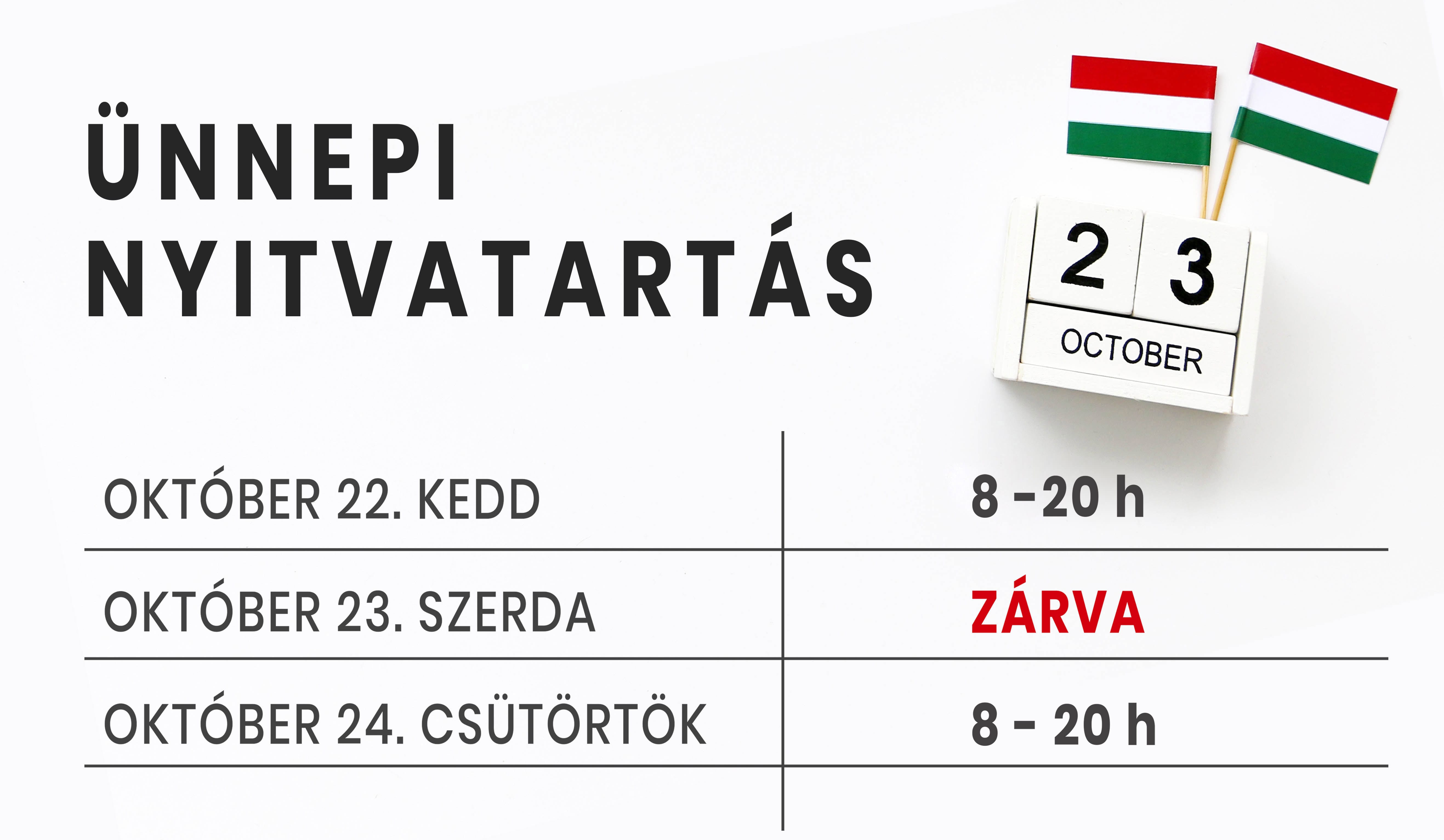 October 23 Wooden calendar Concept independence day of Hungary a
