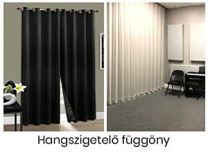 Hangszigetelő függöny méretre készítés