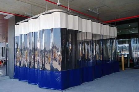 PVC elválasztó függöny