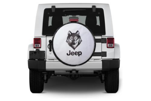 Jeep feliratú pótkerék takaróponyva farkas logóval