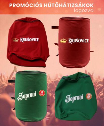 hűtőhátiszsák promóciós textil hátizsák logózás sör